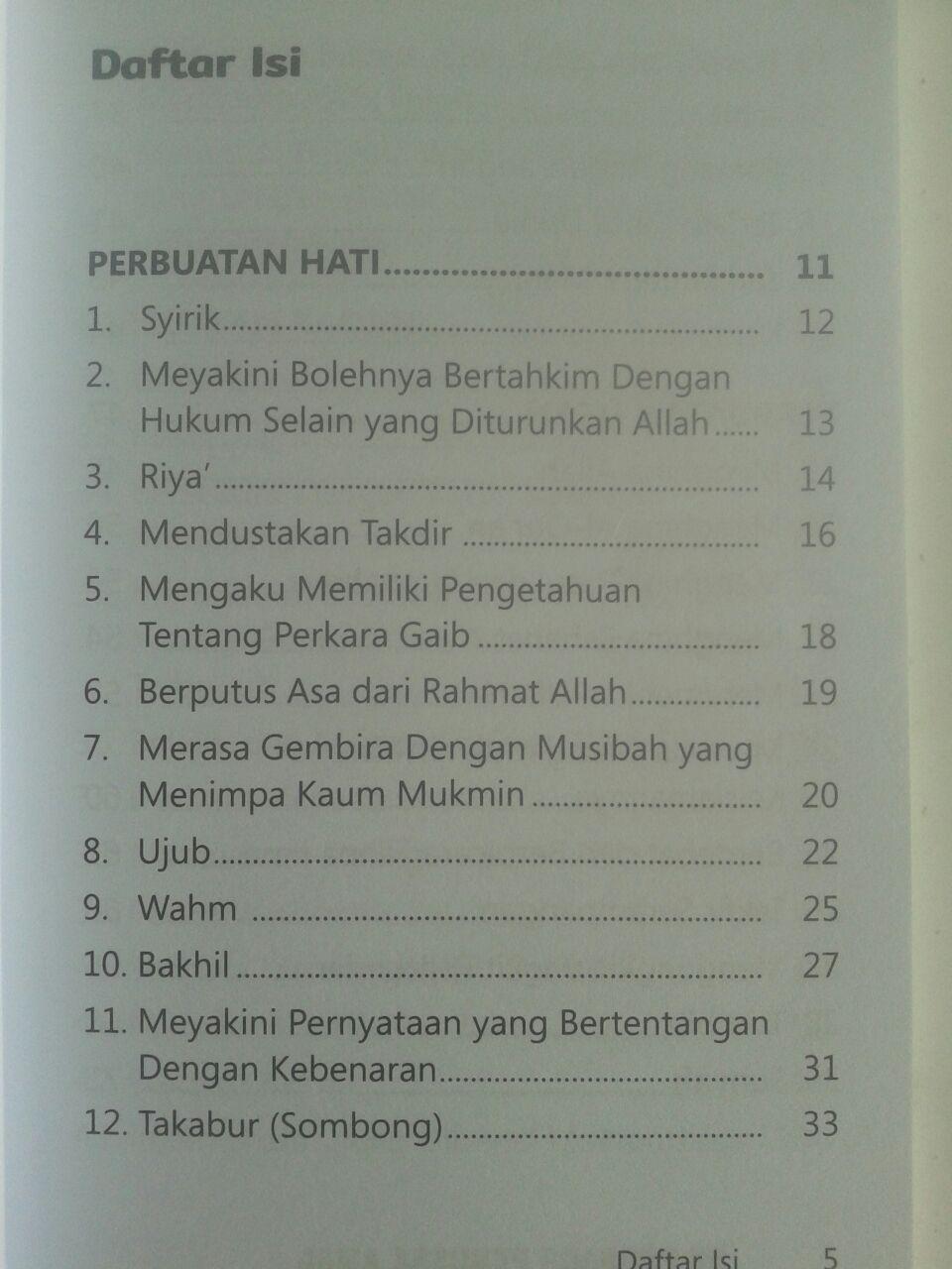 Buku Saku 52 Perkara Perusak Amal isi 2