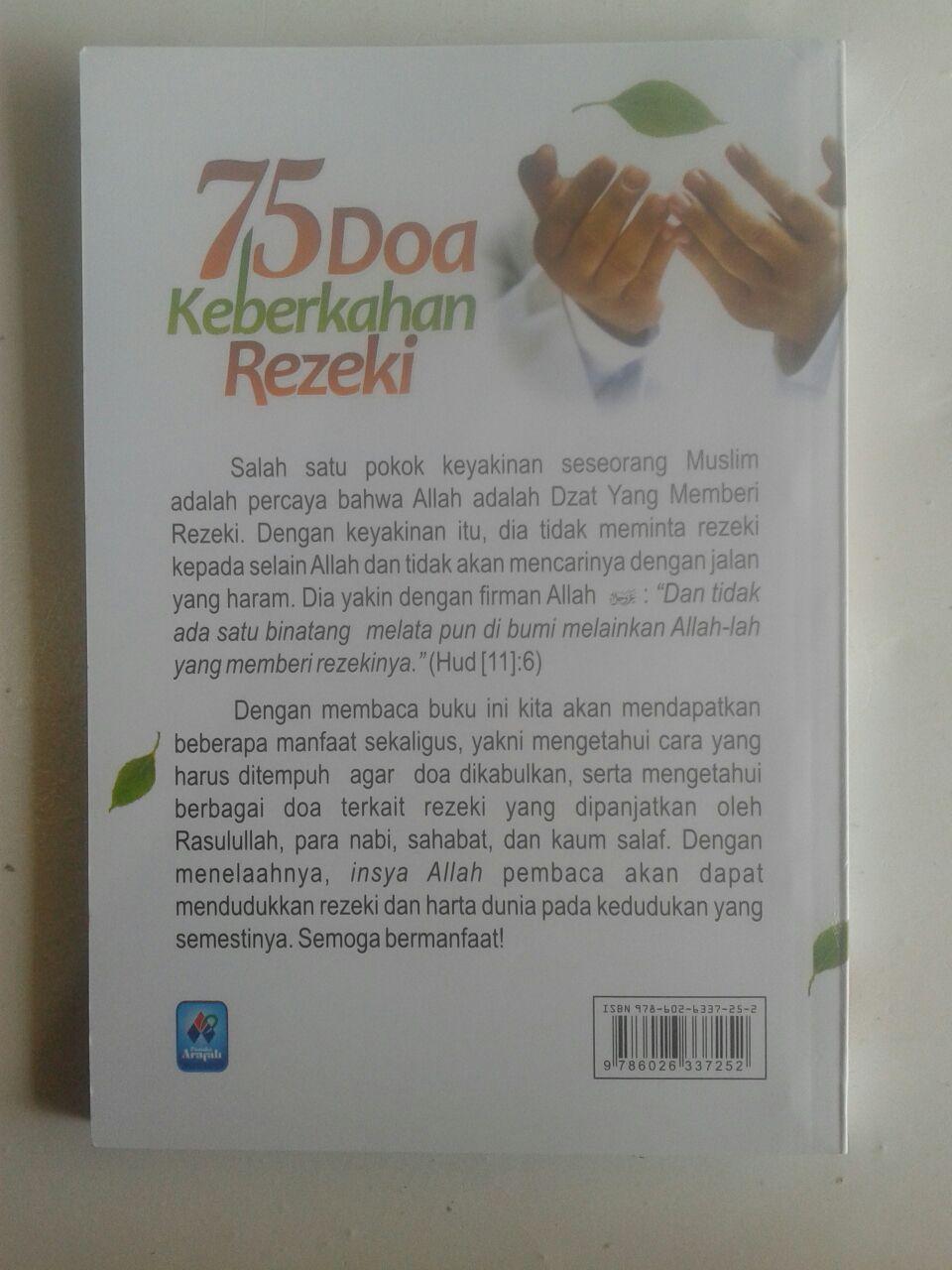 Buku Saku 75 Doa Keberkahan Rezeki cover
