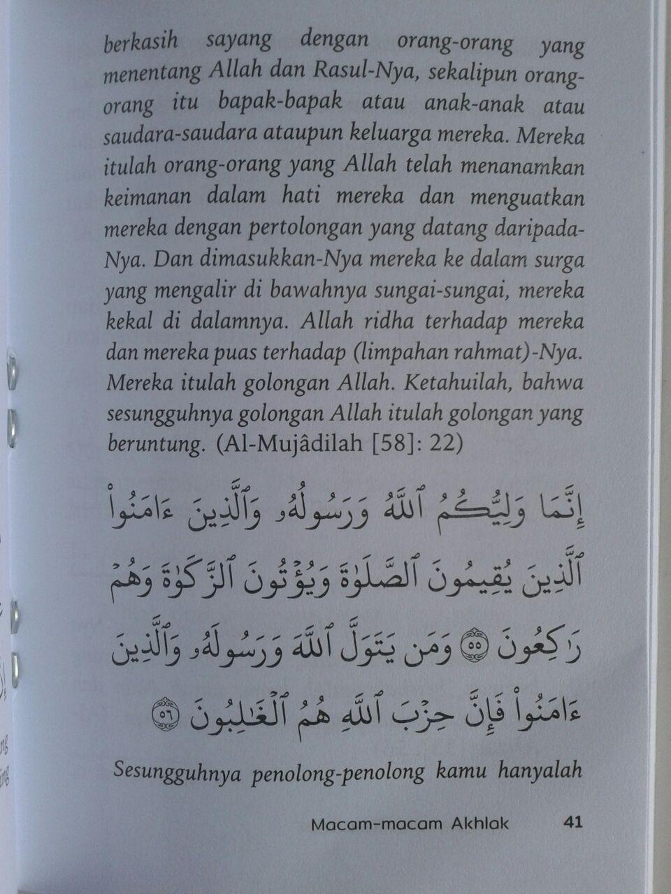 Buku Saku Akhlak Dasar Muslim isi 3