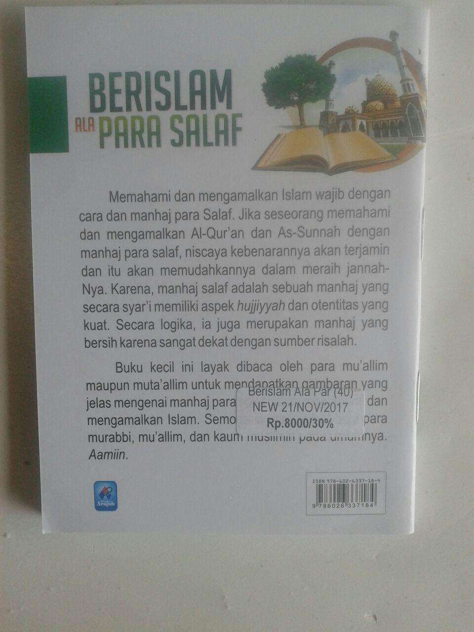 Buku Saku Berislam Ala Para Salaf Cara Memahami Sumber Islam cover