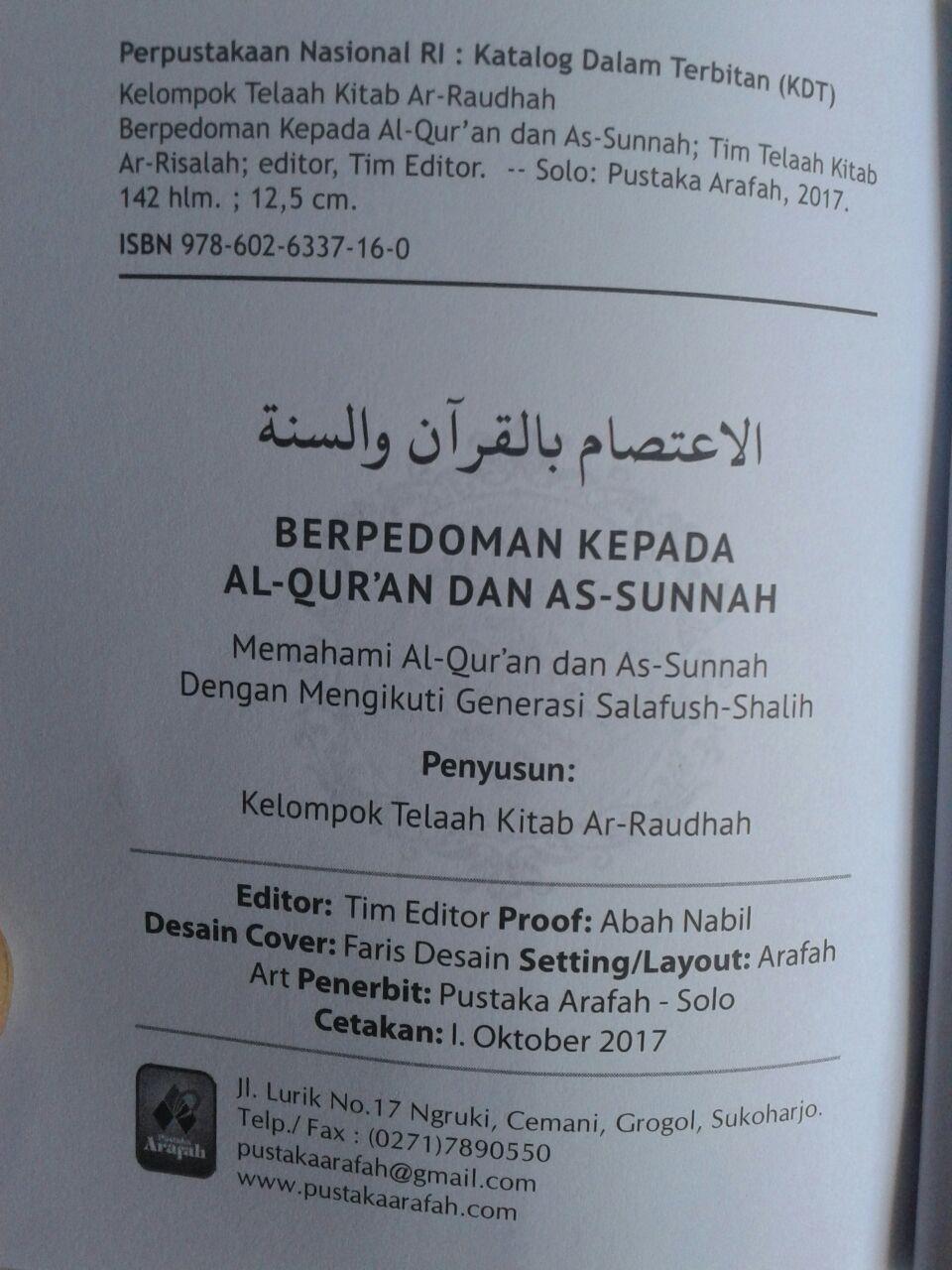 Buku Saku Berpedoman Kepada Al-Quran Dan As-Sunnah isi 2