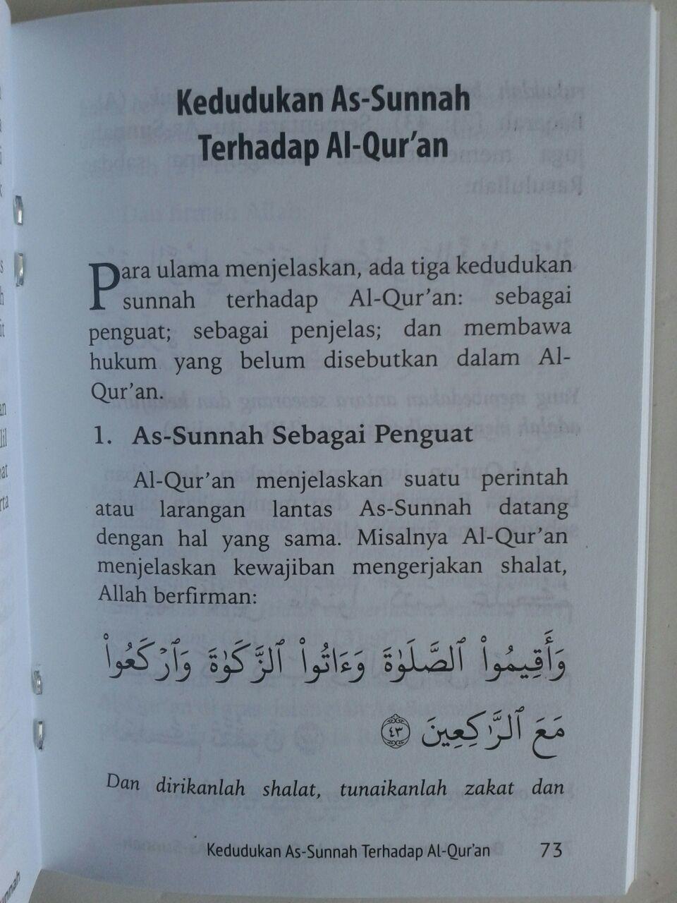 Buku Saku Berpedoman Kepada Al-Quran Dan As-Sunnah isi