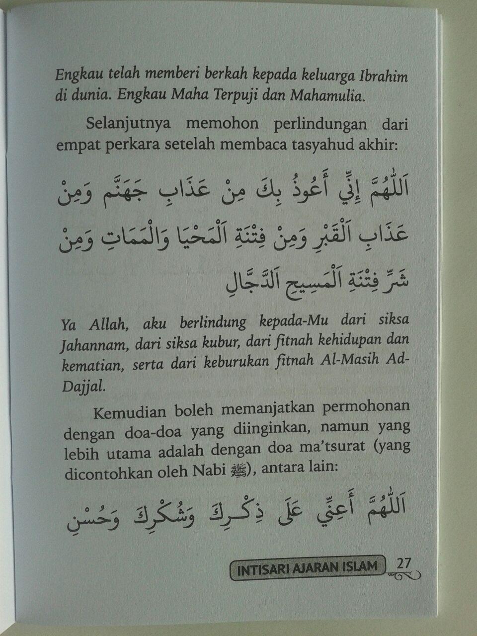 Buku Saku Intisari Ajaran Islam Pelajaran Penting Yang Harus Diketahui isi 3