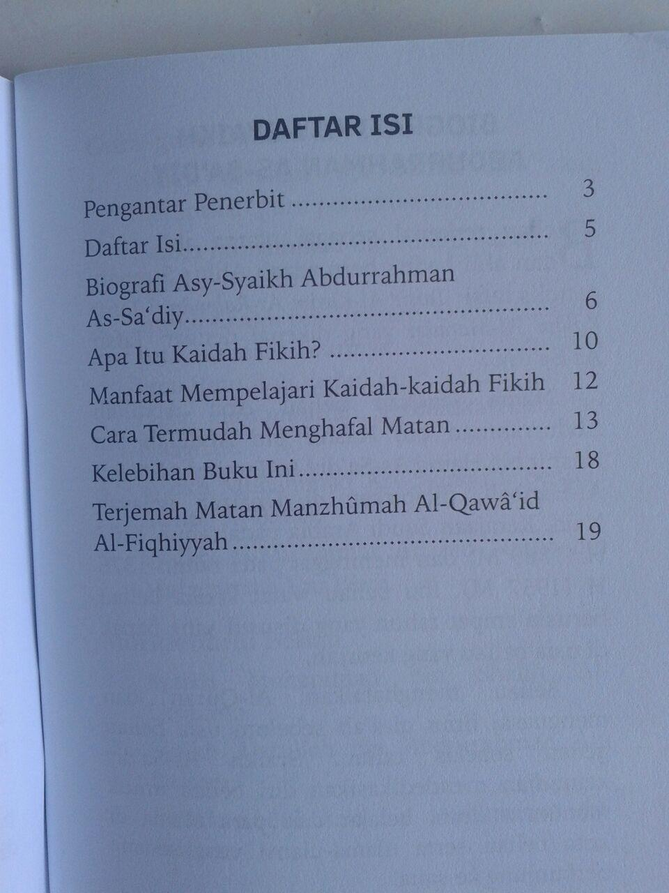 Buku Saku Manzhumah Al-Qawaid Al-Fiqhiyyah As-Sa'diy isi