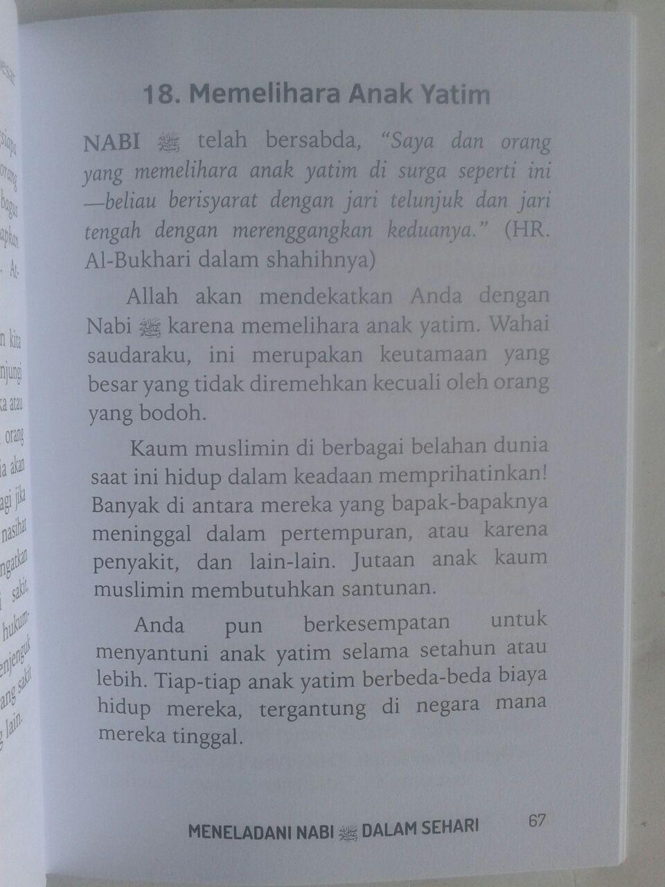 Buku Saku Meneladani Nabi Dalam Sehari isi 2