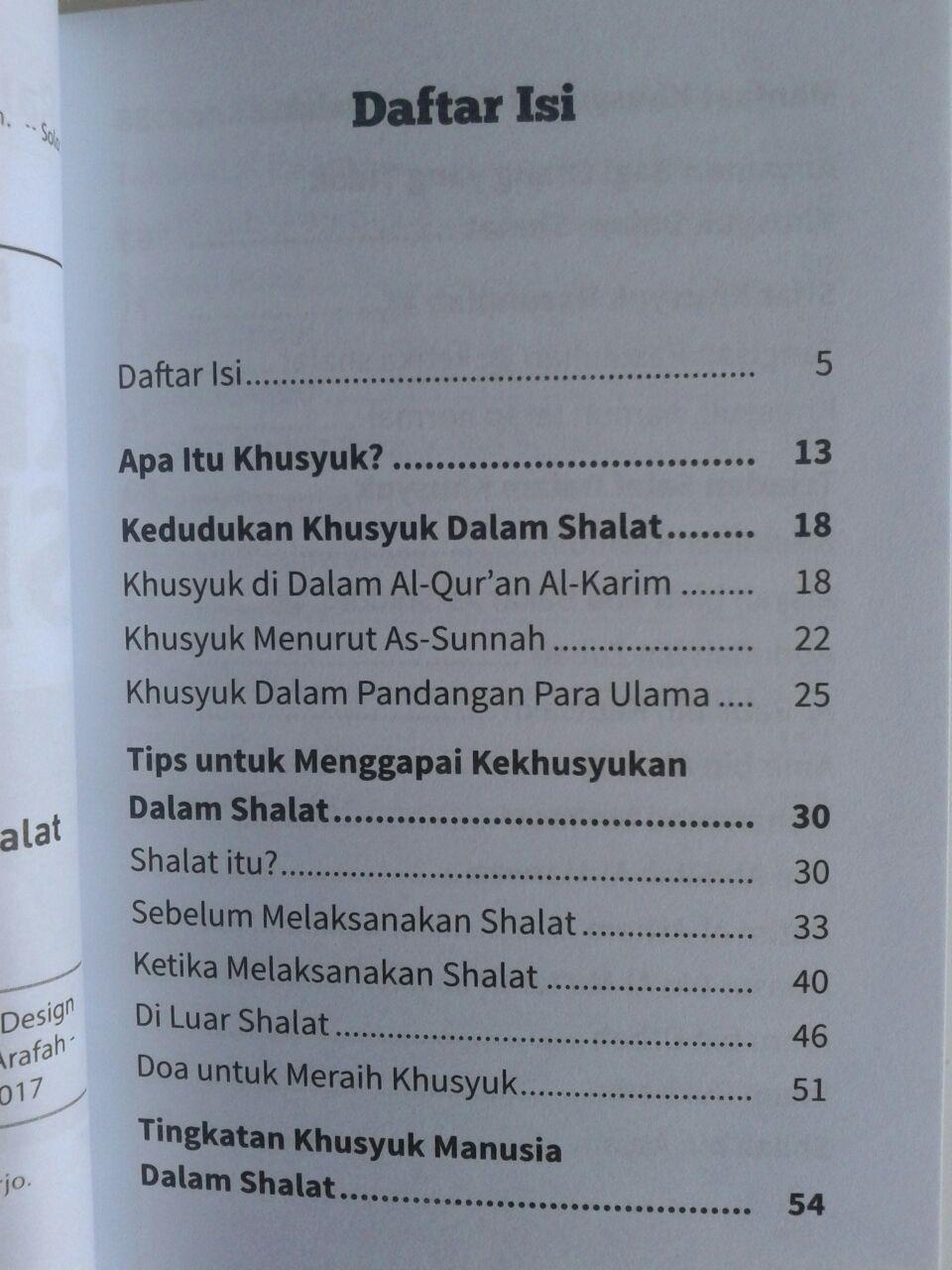Buku Saku Menemukan Khusyuk Dalam Shalat isi 2