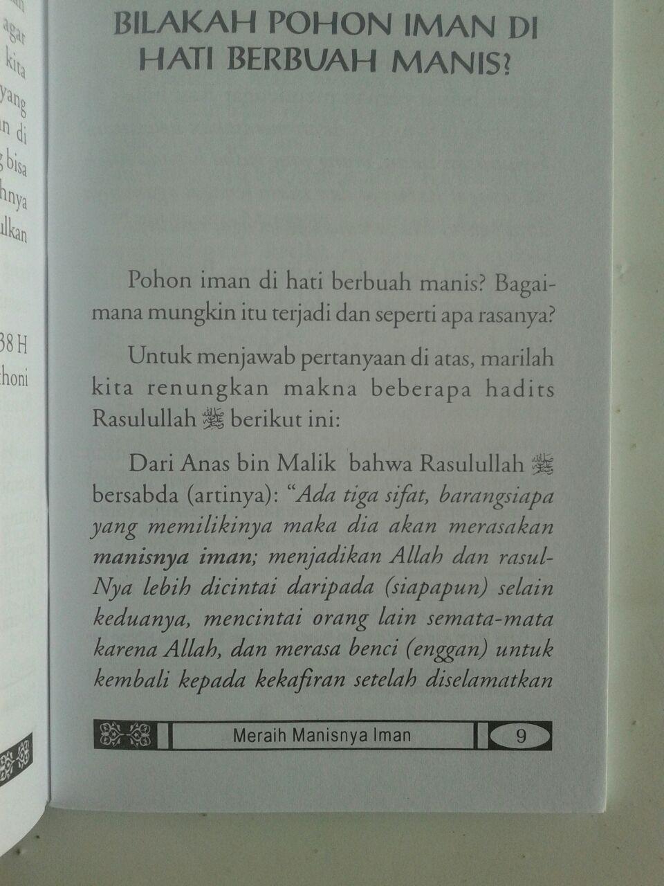 Buku Saku Meraih Manisnya Iman isi
