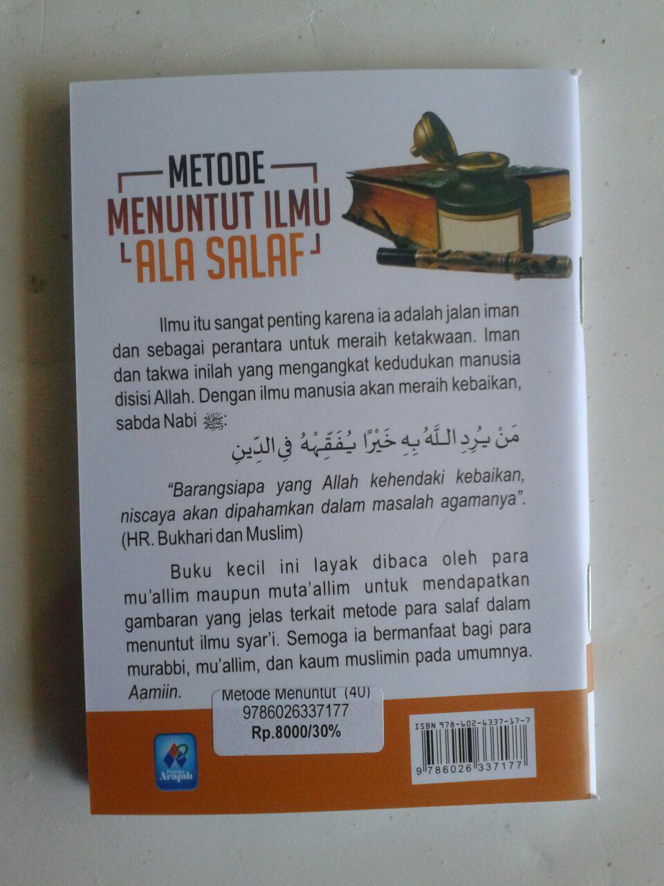Buku Saku Metode Menuntut Ilmu Ala Salaf cover