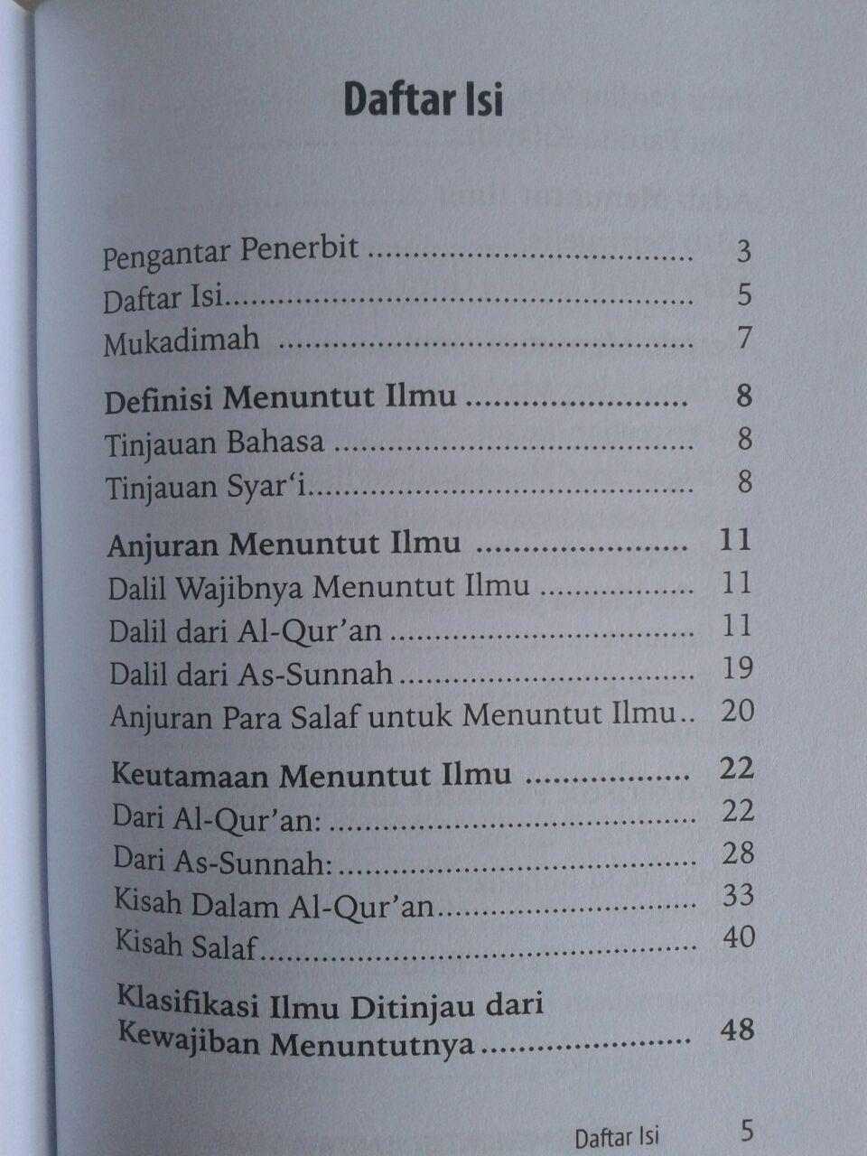 Buku Saku Metode Menuntut Ilmu Ala Salaf isi 2