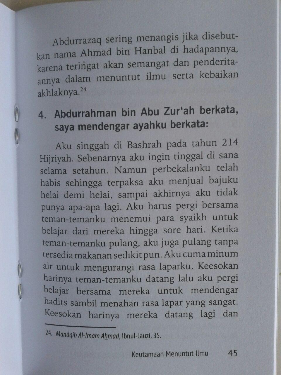 Buku Saku Metode Menuntut Ilmu Ala Salaf isi 3