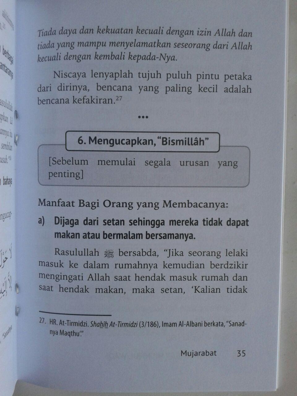 Buku Saku Mujarabat Hisnul Waqi Doa Dzikir Dari Keburukan isi 2