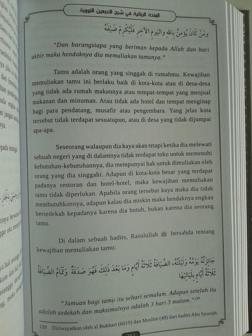 Buku Syarah Arbain An-Nawawiyah Mendulang Faedah Ilmiyah isi