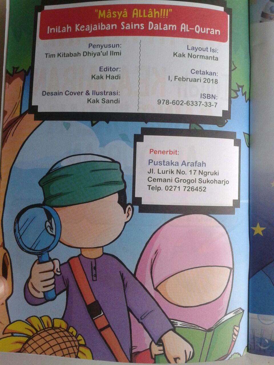 Buku Anak Masya Allah Inilah Keajaiban Sains Dalam Al-Qur'an isi