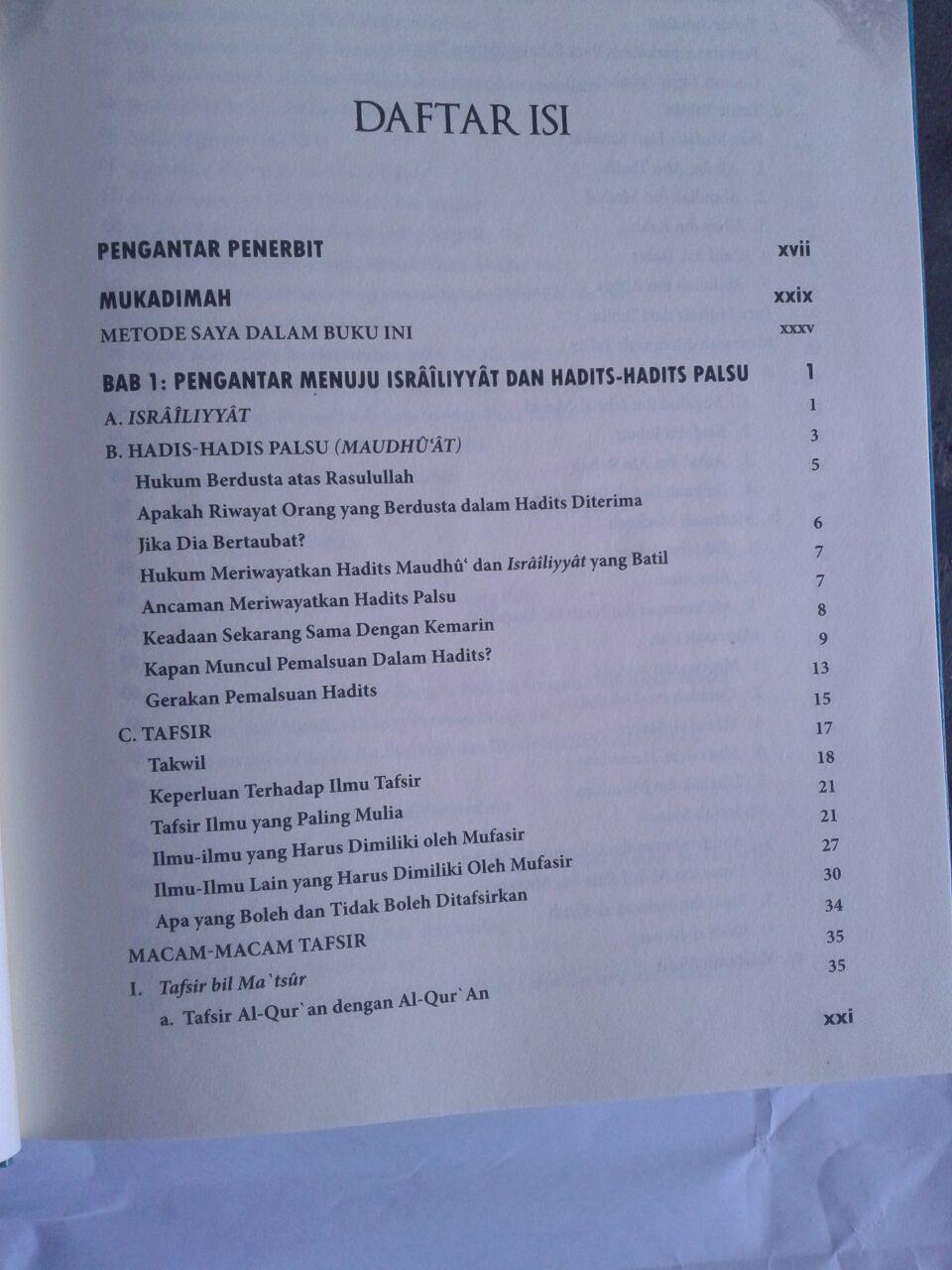 Buku Israiliyyat Dan Hadits-Hadits Palsu Tafsir Al-Qur'an isi 3
