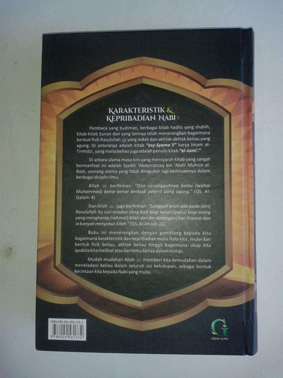 Buku Karakteristik Dan Kepribadian Nabi Syarah Syamailin Nabi cover