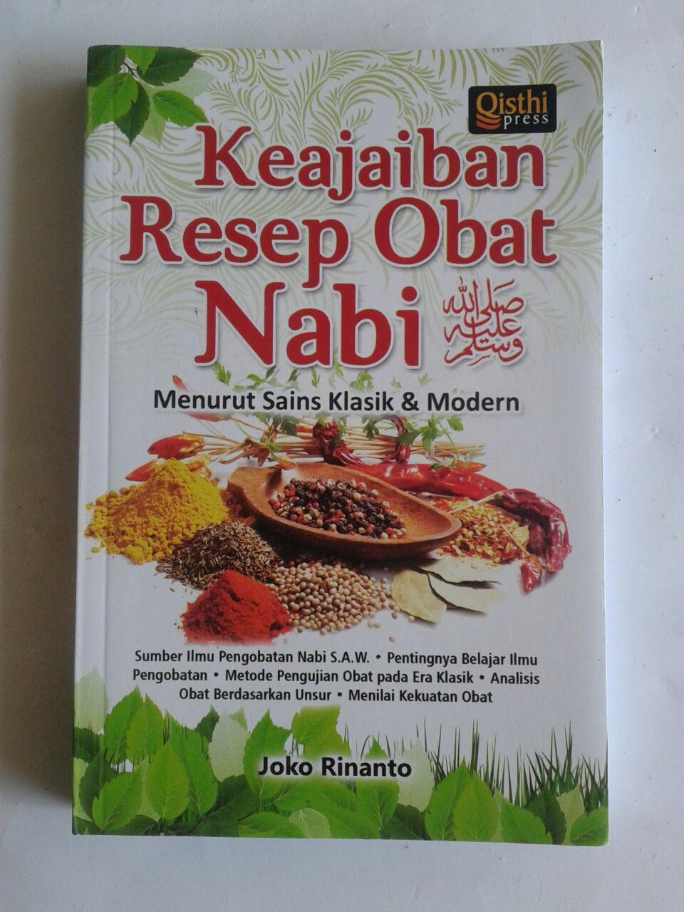 Buku Keajaiban Resep Obat Nabi Menurut Sains Klasik Dan Modern cover 2