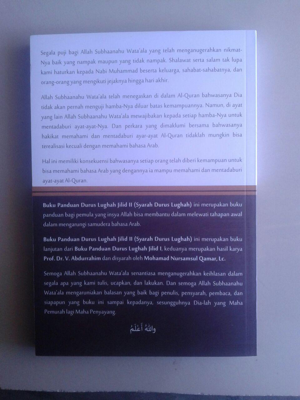 Buku Panduan Durus Lughah 2 Syarah Durusul Lughah cover