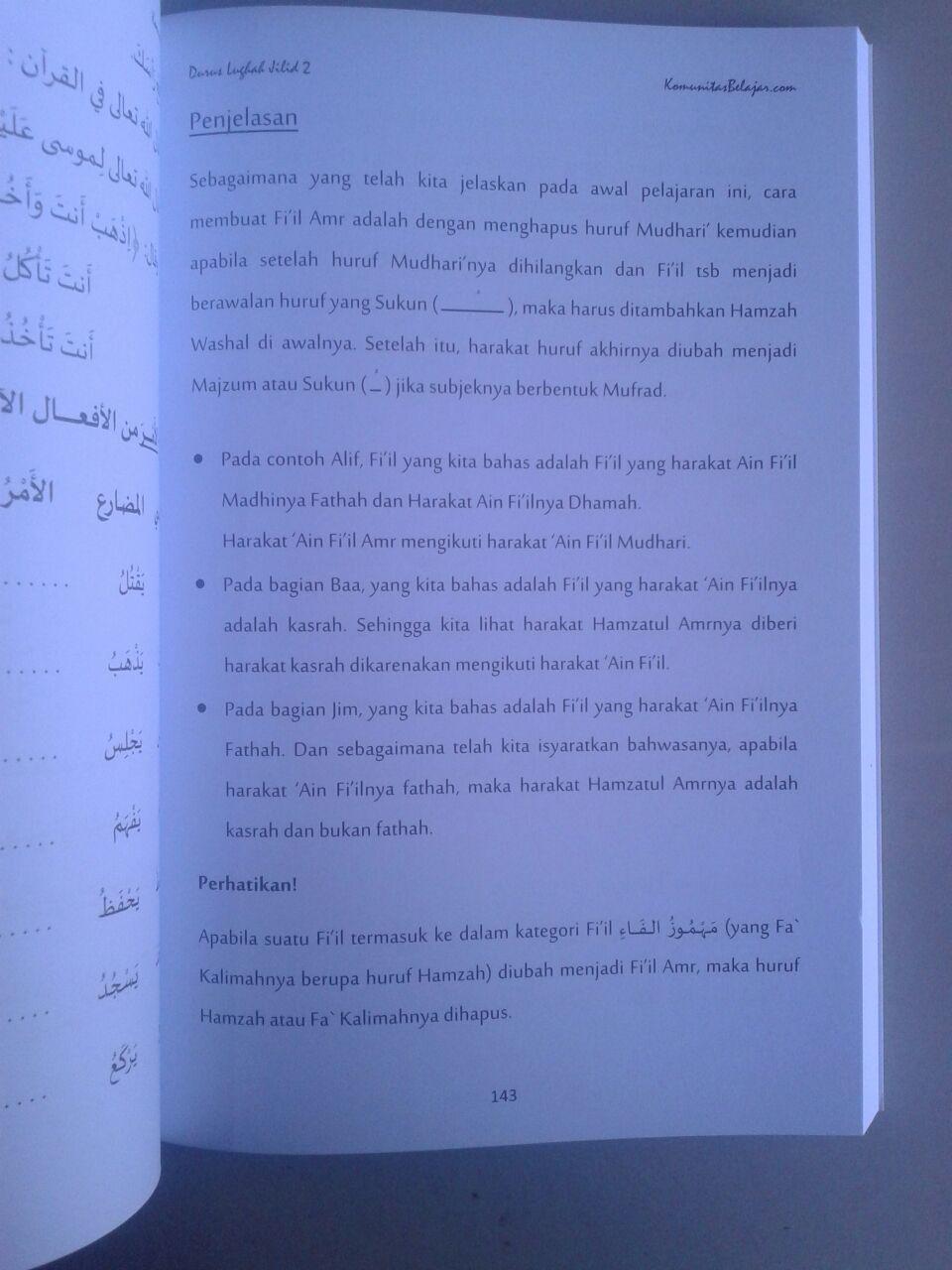 Buku Panduan Durus Lughah 2 Syarah Durusul Lughah isi 2