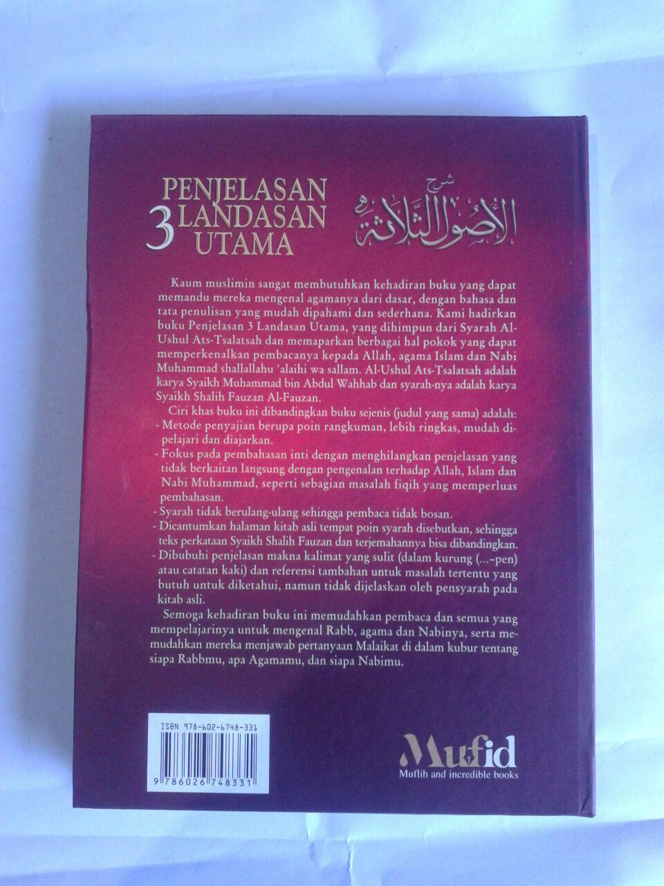 Buku Penjelasan 3 Landasan Utama Hard Cover cover