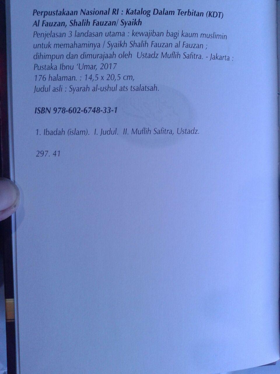 Buku Penjelasan 3 Landasan Utama Hard Cover isi 2