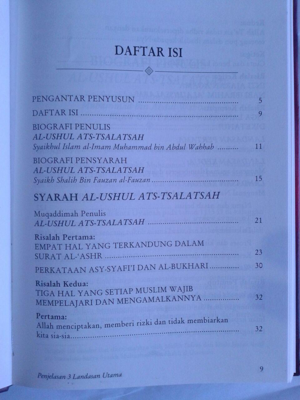 Buku Penjelasan 3 Landasan Utama Hard Cover isi 3