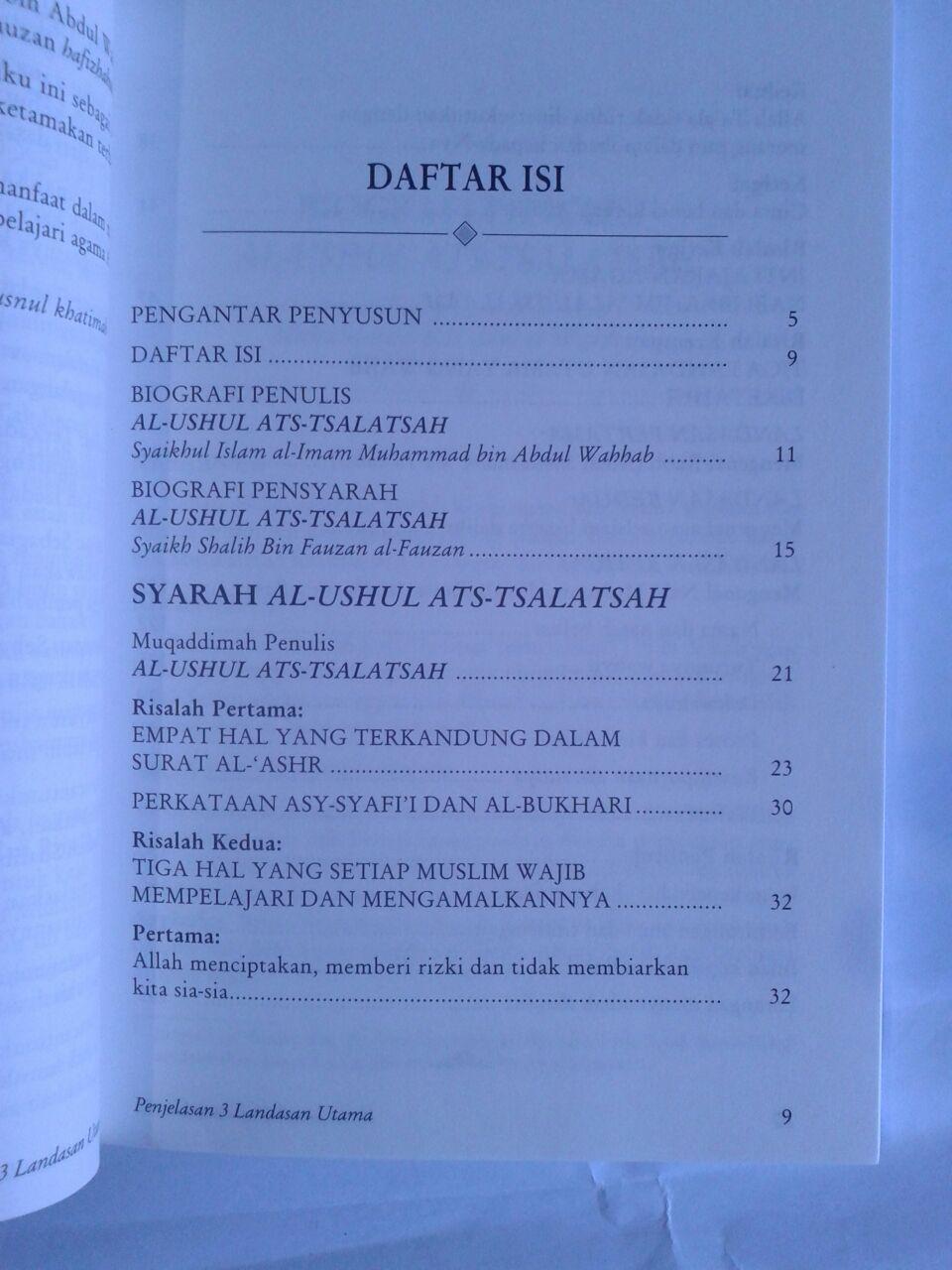 Buku Penjelasan 3 Landasan Utama Soft Cover isi