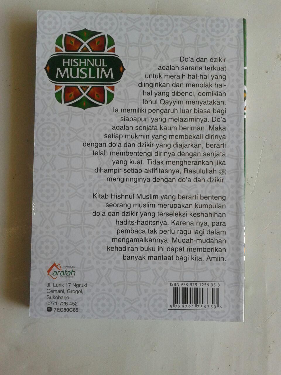 Buku Saku Hishnul Muslim Panduan Doa Dan Dzikir Sehari Hari cover
