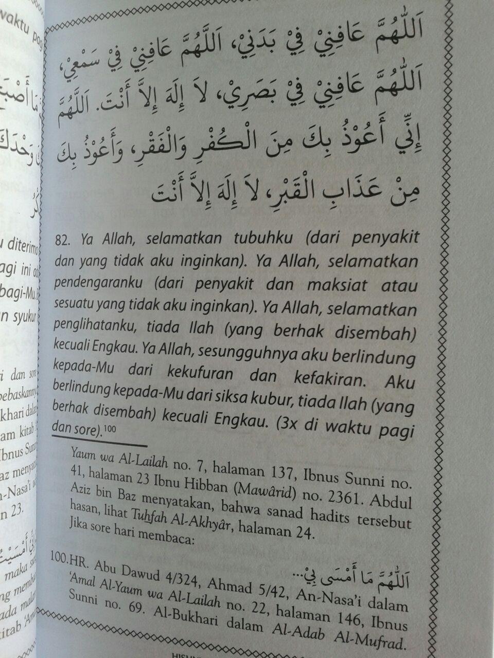 Buku Saku Hishnul Muslim Panduan Doa Dan Dzikir Sehari Hari isi 2