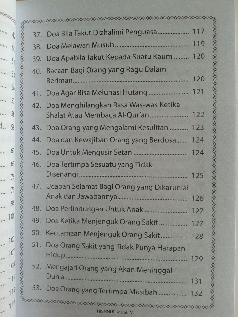 Buku Saku Hishnul Muslim Panduan Doa Dan Dzikir Sehari Hari isi
