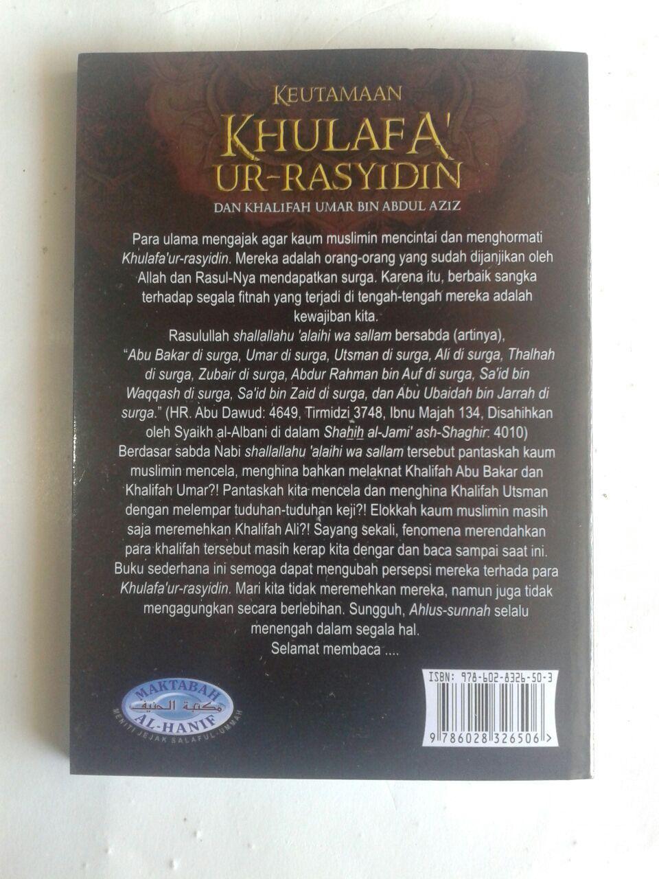 Buku Saku Keutamaan Khulafaur Rasyidin Dan Umar bin Abdul Aziz cover