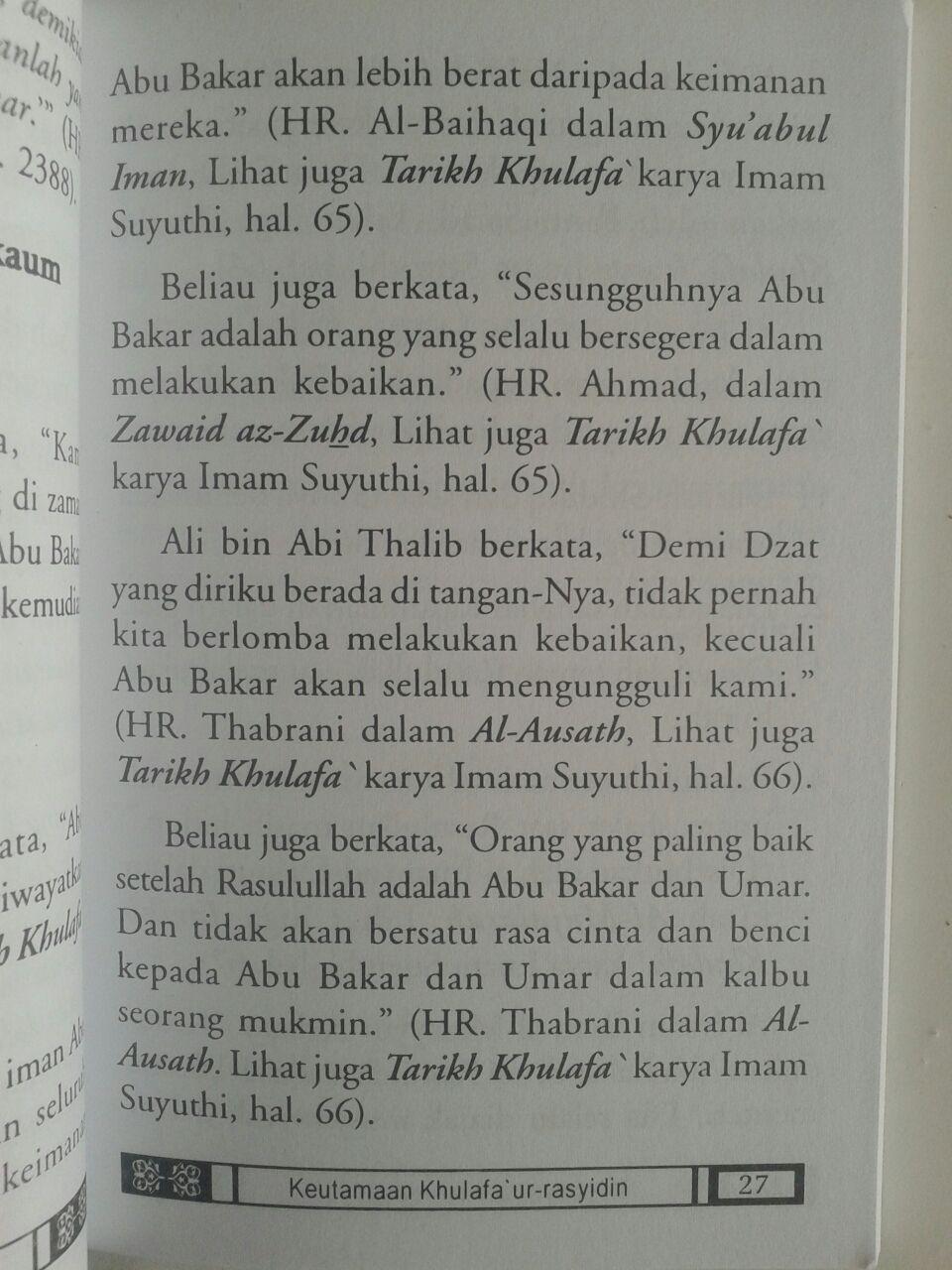 Buku Saku Keutamaan Khulafaur Rasyidin Dan Umar bin Abdul Aziz isi 2
