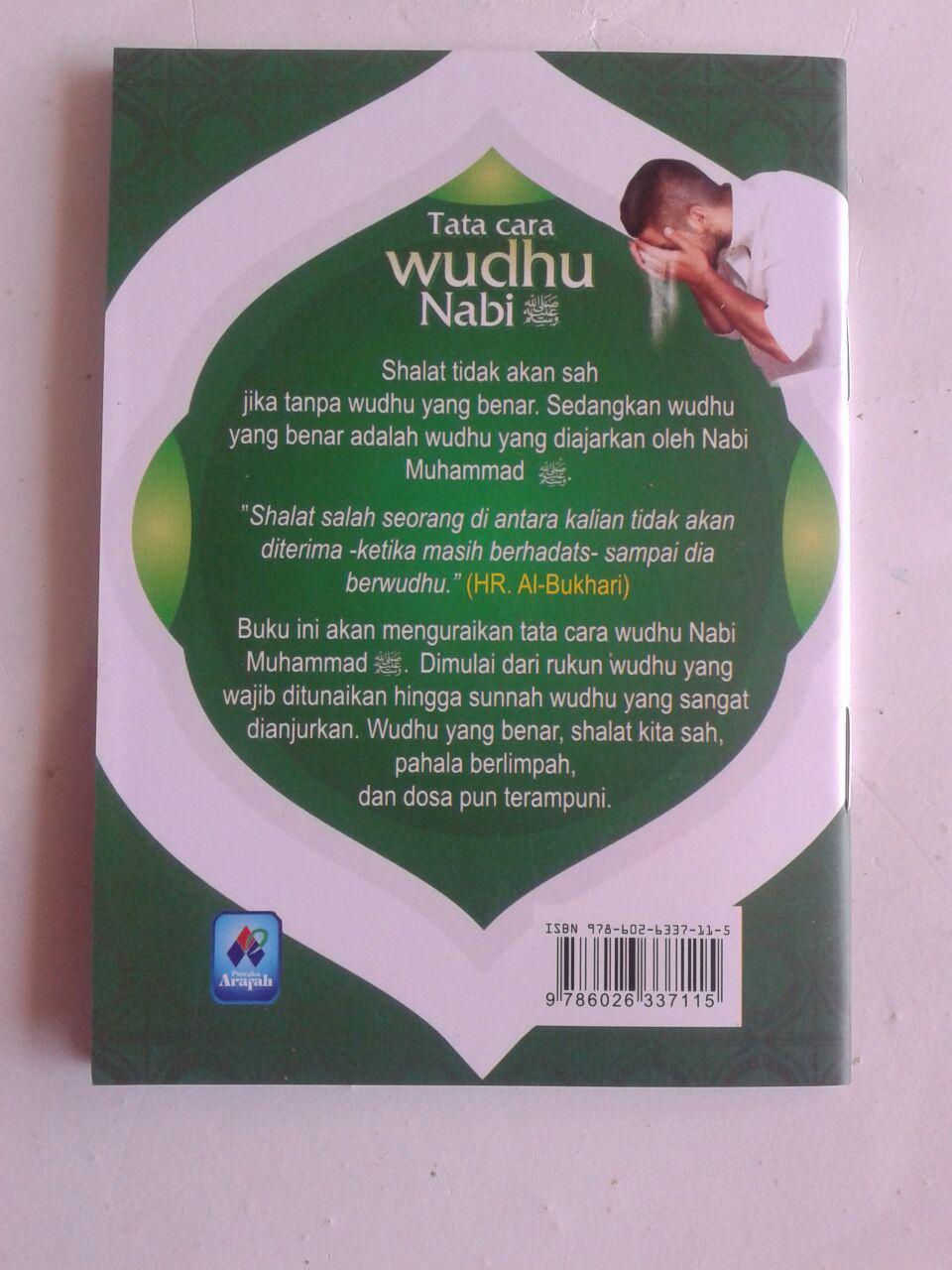 Buku Saku Tata Cara Wudhu Nabi Dilengkapi Mandi Janabah Tayamum cover