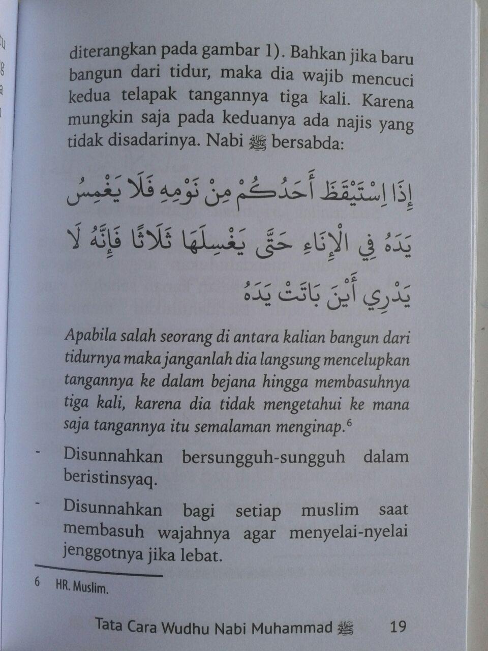 Buku Saku Tata Cara Wudhu Nabi Dilengkapi Mandi Janabah Tayamum isi 2