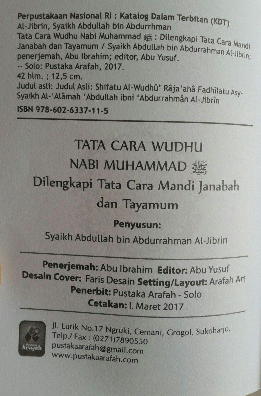 Buku Saku Tata Cara Wudhu Nabi Dilengkapi Mandi Janabah Tayamum isi 3