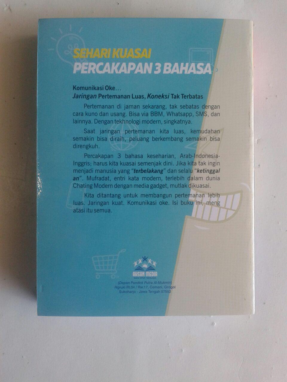 Buku Sehari Kuasai Percakapan 3 Bahasa Simpel Praktis Cepat cover