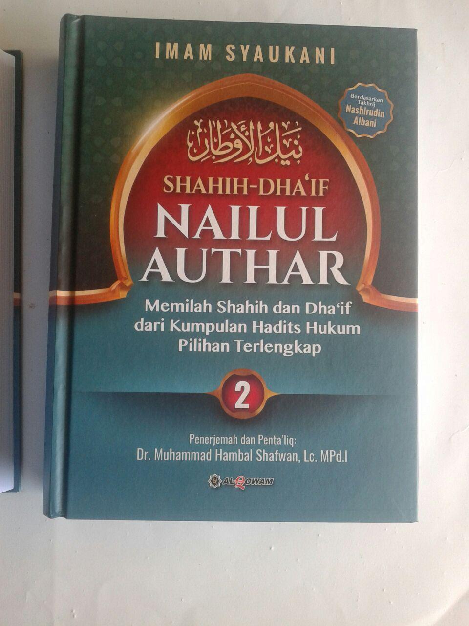 Buku Shahih Dhaif Nailul Authar Kumpulan Hadits Hukum Terlengkap cover 2