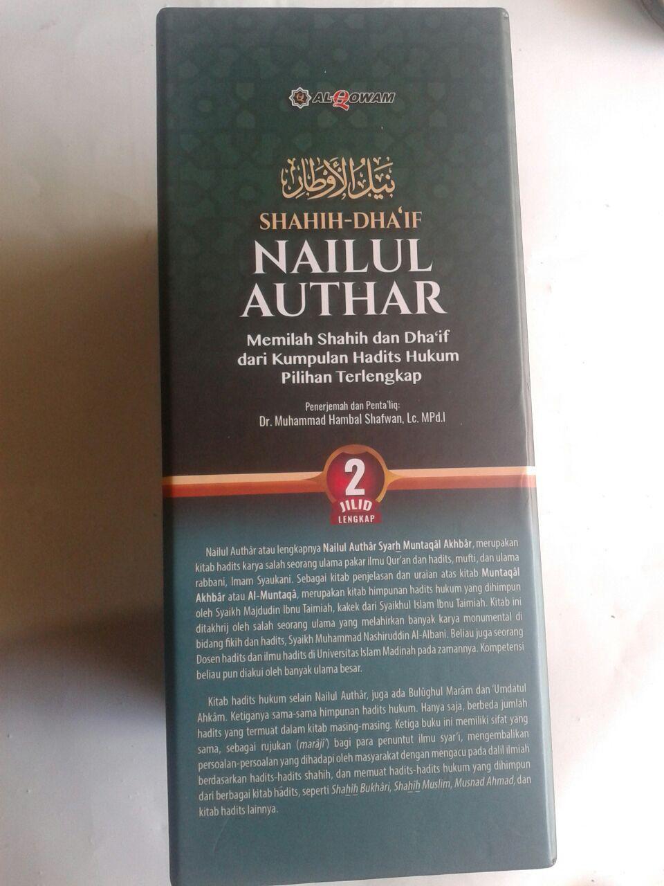 Buku Shahih Dhaif Nailul Authar Kumpulan Hadits Hukum Terlengkap cover 3