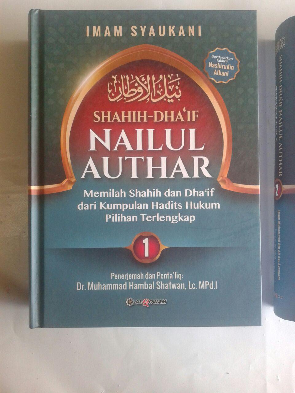 Buku Shahih Dhaif Nailul Authar Kumpulan Hadits Hukum Terlengkap cover