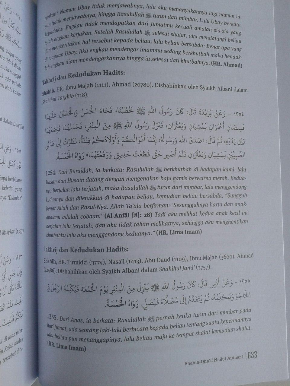 Buku Shahih Dhaif Nailul Authar Kumpulan Hadits Hukum Terlengkap isi
