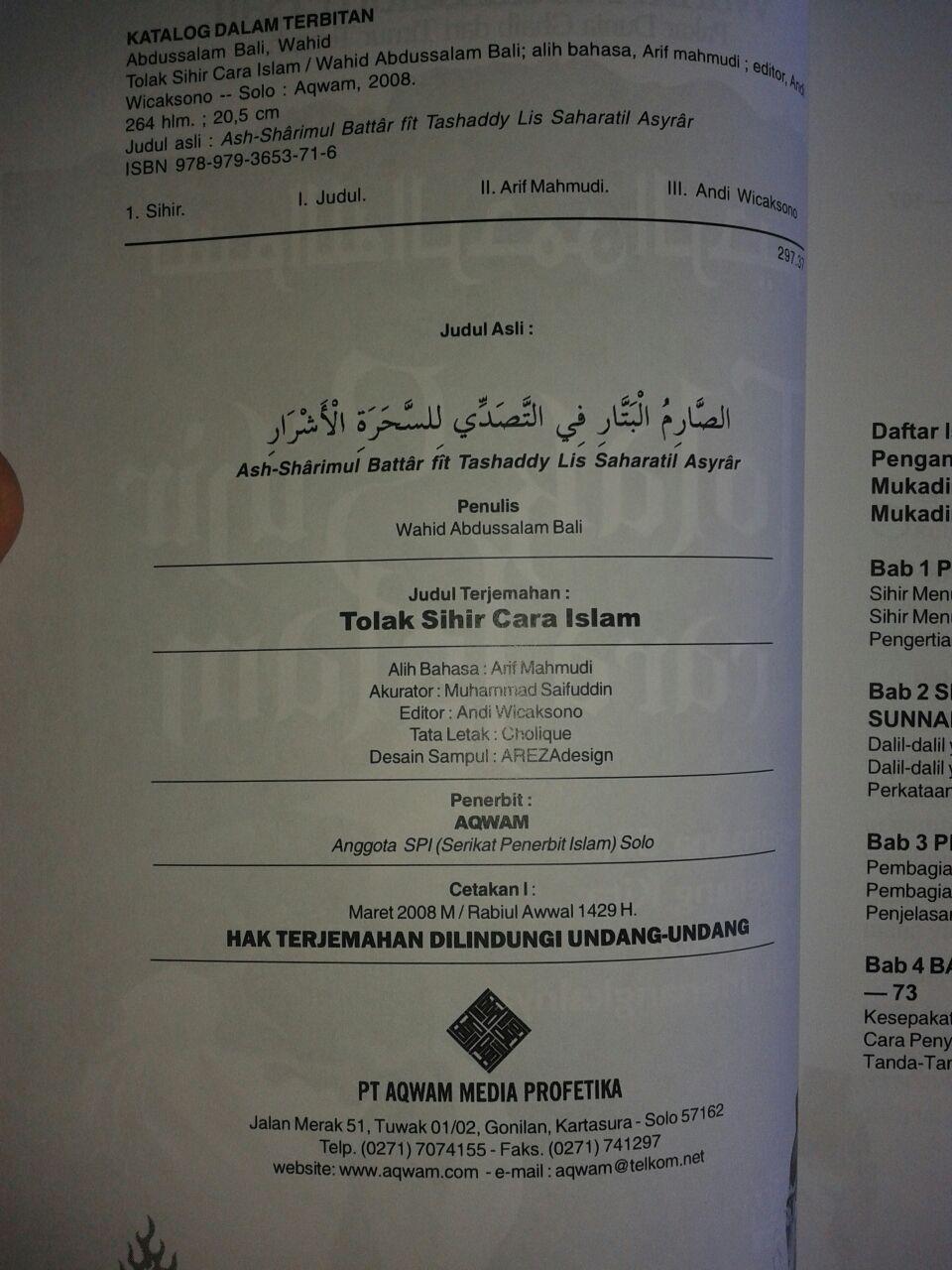 Buku Tolak Sihir Cara Islam isi 3