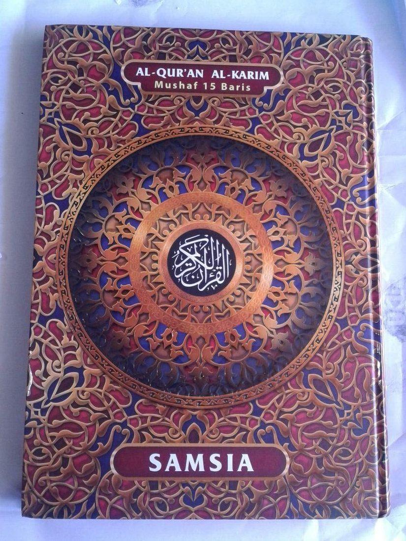 Al-Qur'an Mushaf Samsia 15 Baris Khot Utsmani Ukuran Jumbo cover