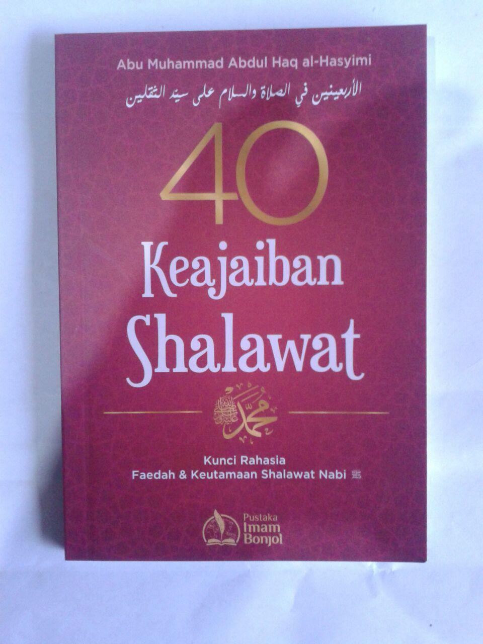 Buku 40 Keajaiban Shalawat Kunci Rahasia Shalawat Nabi cover 2