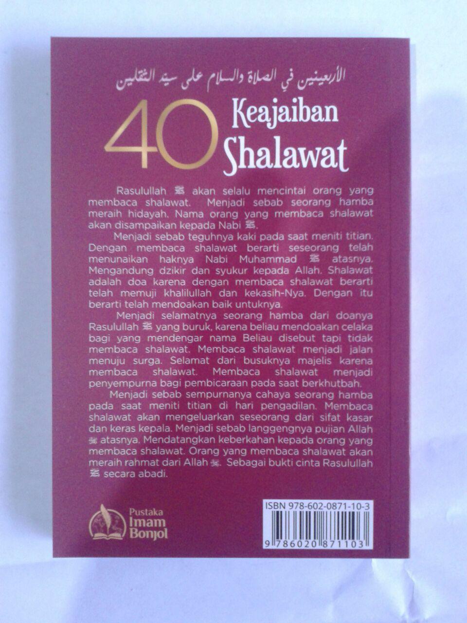 Buku 40 Keajaiban Shalawat Kunci Rahasia Shalawat Nabi cover