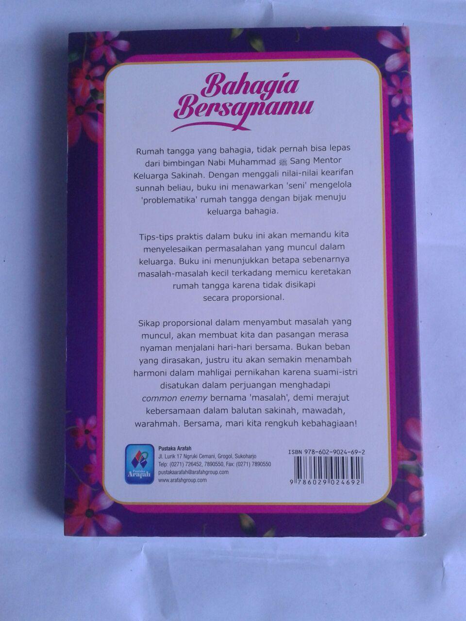 Buku Bahagia Bersamamu Mewujudkan Sakinah Mawadah Warahmah cover
