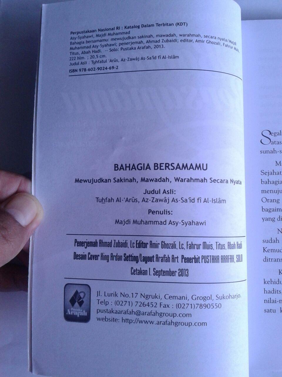 Buku Bahagia Bersamamu Mewujudkan Sakinah Mawadah Warahmah isi 3