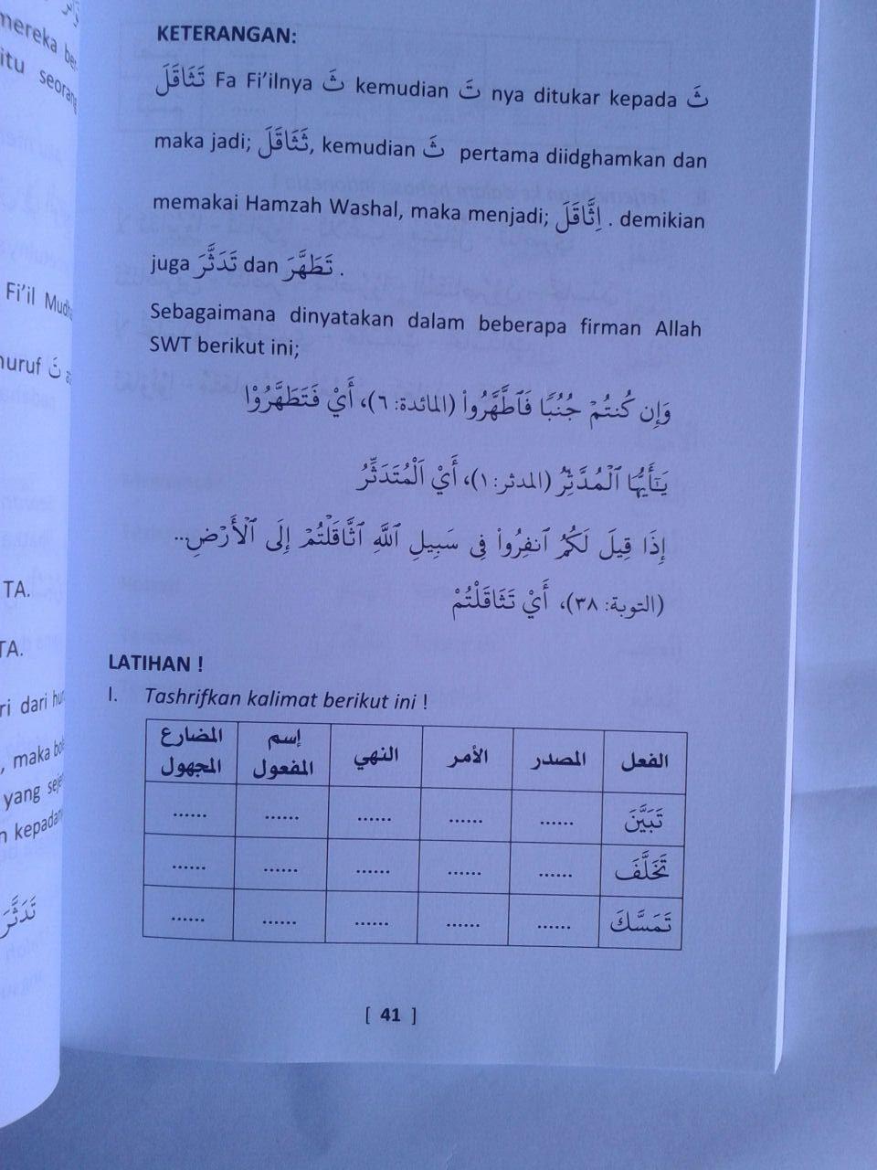 Buku Belajar Tashrif Sistem 40 Jam isi 2