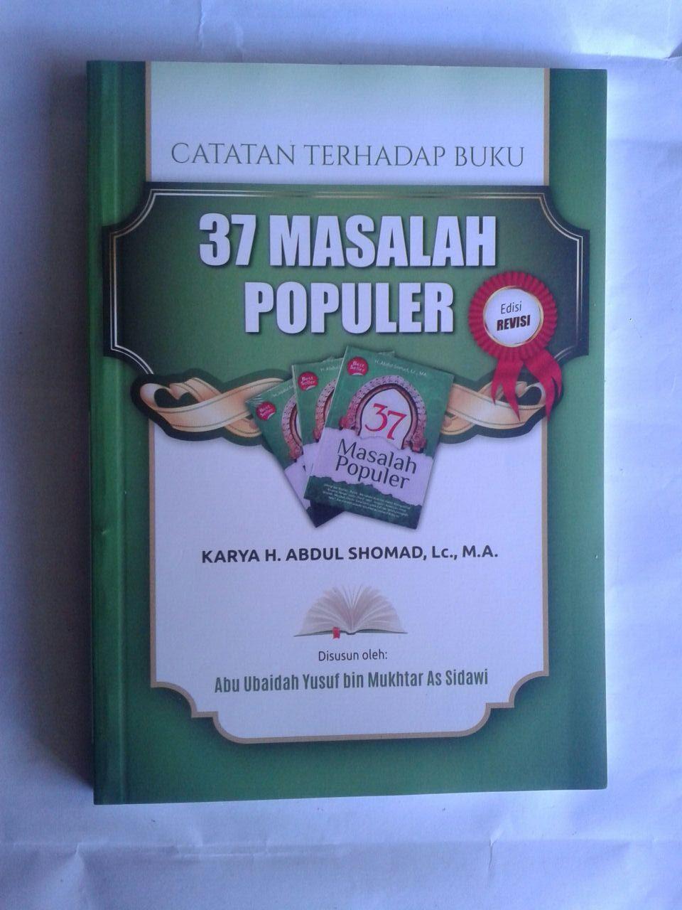 Buku Catatan Terhadap Buku 37 Masalah Populer cover