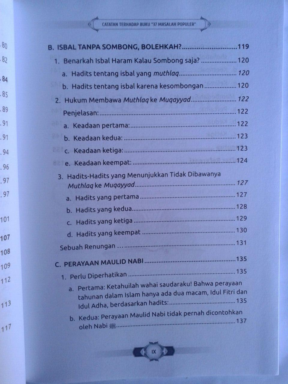 Buku Catatan Terhadap Buku 37 Masalah Populer isi 2