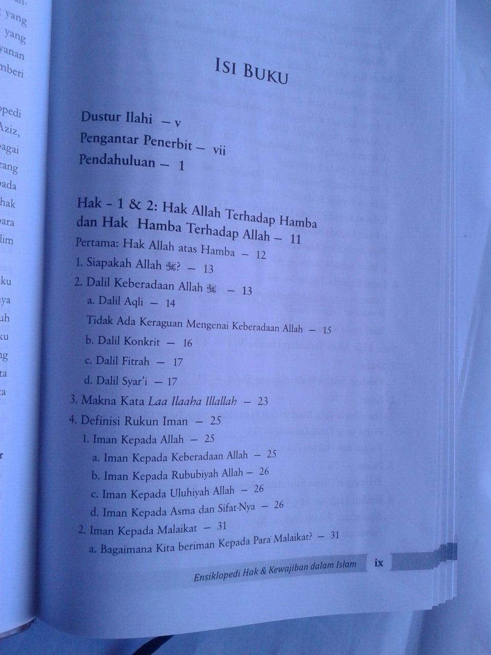 Buku Ensiklopedi Hak Dan Kewajiban Dalam Islam isi 3