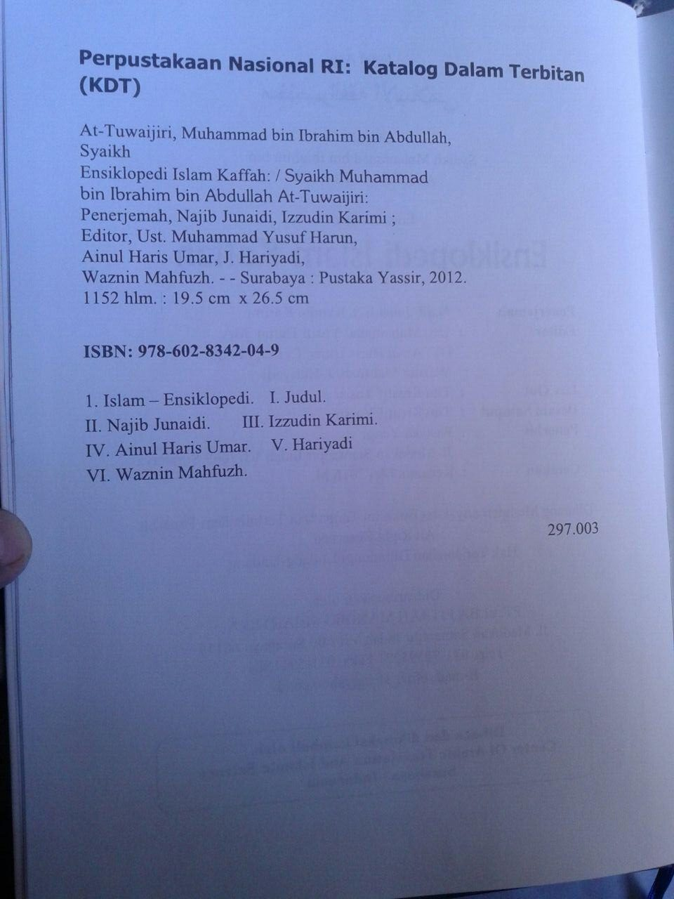 Buku Ensiklopedi Islam Kaffah Edisi Terlengkap isi 3
